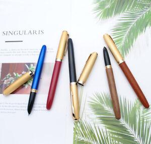 Jinhao 85 Metal/Wood Fountain Pen Golden Cap Extra Fine Nib 0.38mm Ink Pen
