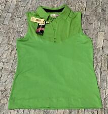 Nwt! Sport Haley Lime Green Sleeveless Collared Aerocool Size Small Golf Shirt