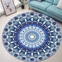 Round Mandala Floor Mat Rug Carpet Living Home Room Non Slip Area Yoga Decor -)