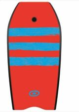 "OSPREY RED STRIPE 37"" BODYBOARD WITH LEASH hdpe boogie board surf wetsuit"