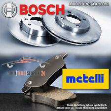 Bosch 2 Bremsscheiben Voll 256mm u Metelli Bremsbeläge Hinten VW Jetta Golf Audi