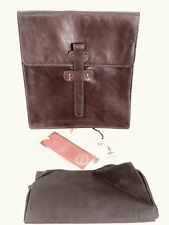 """ITALIAN LEATHER TABLET CASE ✧ OLD ANGLER FIRENZE ✧ 10""""x 9""""x 1""""✧ BROWN ✧ NWT"""