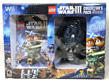 Wii LEGO STAR WARS III CLONE WARS COLLECTORS PACK EDITION, DARTH VADER Plush NEW