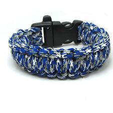 1pcs Paracord Parachute Rope Bracelet Wristband Survival Camping Climbing AM07