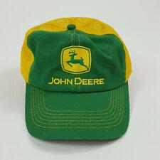 Vintage John Deere K-Products Logo Embroidered Mesh Back Snapback Trucker Hat