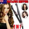 2 In 1 Hair Curler Straightener Professional Salon Curling Hair Iron Tool AU