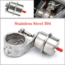 """2"""" 51mm Exhaust Control Valve Vacuum Actuator Open Style Cutout Downpipe Steel"""