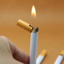 Novelty Windproof Jet Flame Cigarette Shaped Refillable Butane GasCigar Lighter♫