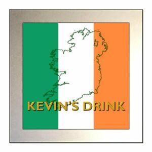 Personalised IRISH FLAG / IRISH TRICOLOUR / EIRE Glass Drinks Coaster