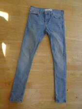 TOPMAN mens blue denim super spray on skinny leg jeans WAIST 32 / LEG 32