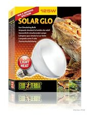 Exo Terra Solar Glo 125W Reptile Bulb UVB Basking Heat Lizard MVB Mercury Vapor