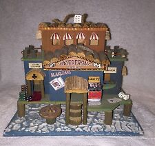 Vintage Outdoor Wooden Whimsical Casino Birdhouse-Waterfront Casino 9 X 10