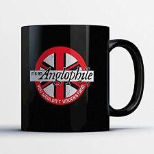 British Coffee Mug - It's An Anglophile Thing - Adorable 11 oz Black Ceramic Tea