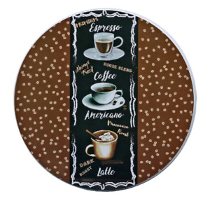 Coffee Themed Burner Covers for Stove 10in & 8in Complete Set of 4 FREE SHIPPING