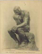 Le Penseur de Rodin par Roseman Vintage argentique ca 1925