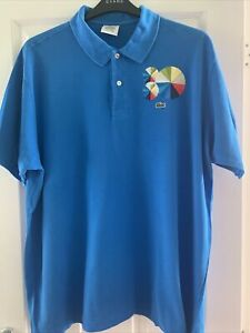 Lacoste Mens Polo Shirt Blue Size 8 (3XL)