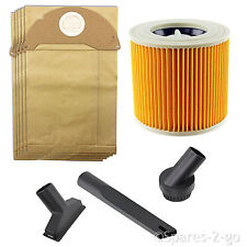 Mini Tool Cleaning Nozzle Bags Filter Kit for Karcher Wet & Dry Vacuum WD2.200