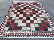 Shabby Chic Traditional Hand Made Persian Oriental Wool Red Gabbeh Rug 275x220cm