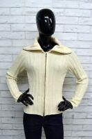 Maglione Donna GAS Taglia M Pullover Sweater Woman Beige Lana Cardigan