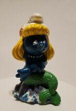 Vintage Smurfs Mermaid Smurfette Smurf 20142 Figure PVC Toy 1981 Figurine Peyo