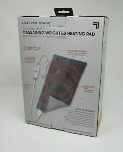 Sharper Image Calming Heat Massaging Weighted Heating Pad - FREE SHIP