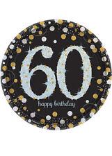 Gold Celebration 60th Birthday Party Plates