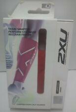 2XU Compression Calf Guards Red Size M Unisex UA1987b