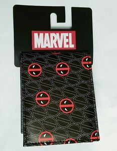 Marvel Deadpool Logo Bifold Wallet NWT