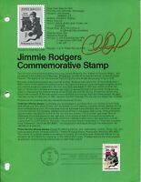 Charlie Daniels Country Music Singer Legend Signed Autograph FDC Stamp Sheet