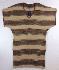 5c4868728a5  798 Ralph Lauren Linen Leather Silk Cashmere Indian Poncho Sweater Dress S  M