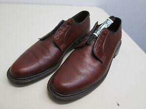 Vtg Walk-Over Oxford Shoes Pebbled brown Leather EUC! 10.5 B Brogues Derby laces