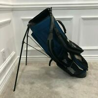 Ping Hoofer 8 Golf Bag Stand Carry 4 Way Divider Blue Double Strap Rain Hood