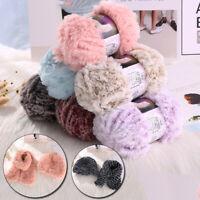 50g/roll Faux Fur Yarn For DIY Hand Knitting Crochet Sweater Thread Plush Yarn