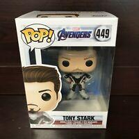 """Funko Pop Marvel Avengers Endgame : TONY STARK #449 Vinyl """"MINT"""" -IN STOCK-"""