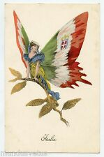 PAPILLON.CHARME PATRIOTIQUE. ITALIE. BUTTERFLY WOMAN.PATRIOTIC CHARM. ITALY
