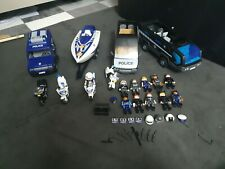Playmobil Police 5564 & 6043 Vehicle Bundle & Tactical Squad and Police Boat