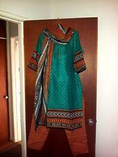 Indian salwar kameez 3 piece suit BNWT suit 14-16 stunning colours hippie