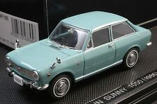Ebbro 43845 1:43 scale Nissan Datsun Sunny 1000 (1966) Die Cast Model Car Blue