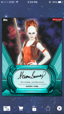 Aurra Sing Michelle Bourriaue Teal Signature Star Wars Card Trader SWCT