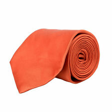 Gianfranco Ferre Men's 100% Silk Solid Orange Neck Tie