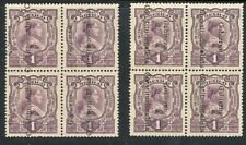 Mexico Revolution Sabinas Lpo Reading Up and Down blocks of 4 Mint Og Nh
