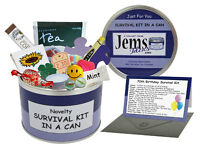 70TH BIRTHDAY Survival Kit In A Can. Fun Novelty Gift Card Present Male/Female