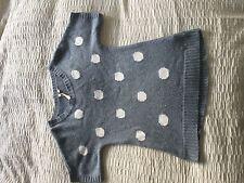 Lovely White Stuff short sleeve jumper blue grey spot size 8! Lambswool cashmere