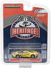 1:64 GreenLight *FORD GT RACING HERITAGE* 2017 Ford GT *1967 TRIBUTE YELLOW #2*