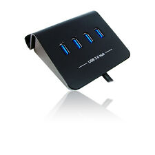 4 Port USB3.0 Hub with Stand, Rapid Charging and OTG - Black