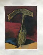 BOCIAN BOHUMÍR STROHALM GOUACHE ORIGINALE ŒUVRE SURRÉALISTE 1977 TCHÈQUE