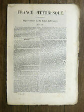 HUGO France Pittoresque ROUEN 1835 Avec carte & 5 gravures NORMANDIE