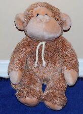 """13"""" Gund STRINGER  Light Brown Tan Plush Monkey w/ Cord Tie Around His Neck"""