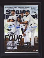 New York Yankees Core Four SI, Signed RP Framed Jeter, Rivera, Posada, Pettitte.