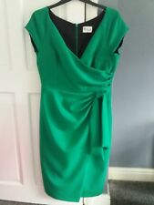 Green Designer Dress 16 Special Occassion / Mother of the bride / Ascot /Racing